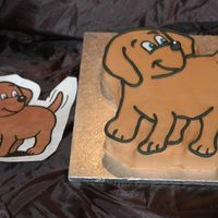Nobby And Nobby!  I was asked to make a Nobby cake for a little boy's 1st birthday - apparantly he is a cartoon dog!! So here's my chocolate fudge...