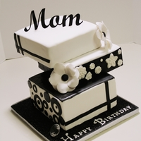 Black & White Birthday Cake