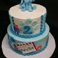 Blues Clues Buttercream with edible images and gumpaste blue