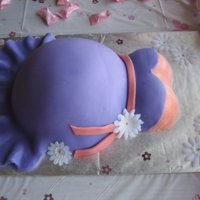 Baby Shower Belly Cake