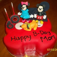 Mickey Mouse Birthday Cake Mickey Mouse Birthday cake for a woman turning 60.