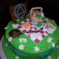 Alcoholics Anonymous Celebration Cake
