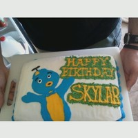 Backyardigans Cake Was supposed to be Wow Wow Wubbzy, but got changed to Backyardigan's literally the night before. So, I had to use the colors I had on...
