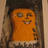 Mr. Peanut Baby Shower Cake 1st cake not done for family. The mom to be had taken to calling her baby Peanut, and the suprise organizers wanted a Mr. Peanut cake. I...