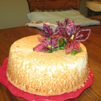 Angel Food And Gelatin Flowers My best friend wanted a homemade angel food cake for her birthday. I made one, but of course have to decorate it in some way. This was my...