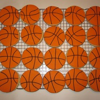 Basketball Cookies Made by my daughter, Julia (13), for a fundraiser.