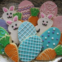 Easter Cookies A variety of Easter cookies made by my daughter Julia (13) and me.
