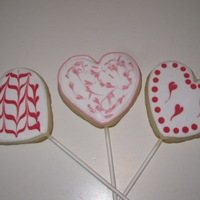 Valentine's Day Cookie Pops I made these for my son's kindergarten class party.