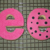"Letter ""e"" Cookies Made by my daughter Julia (13), for a dance group recital. She made these to look like the dance company logo, which is a lowercase ""e..."
