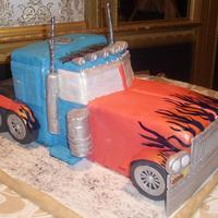 Optimus Prime Optimus Prime Groom Cake