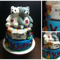 W.e. Care For Kids I made this for the Windsor Essex Care For Kids Foundation Fund Raising Event fondant children, buttercream bears on 10 inch and 12 inch...