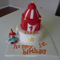 Circus Tent Cake With Clown I had a great time making this one! The clown was a bit fiddly, but I was so happy with how it turned out! TFL