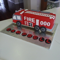 "Fire Engine Cake A fire engine cake for a 3 year old boy, all he wanted for his birthday was a ""Fire Truck Cake"". It was hard work this one! I was..."