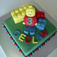 Lego Man & Blocks Lego man made from tylose and fondant. Blocks are covered cakes.10 inch square. Very fun cake to makeThank you to cc'ers for...