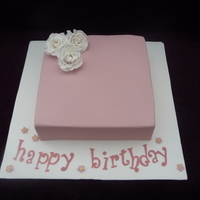 Dusty Pink Cake With Handmade Roses  Made for a 45th ladies birthday. She requested a soft pink with handmade roses.I enjoyed making this cake and was happy with the way it...