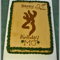 Deer Browning Sheet Cake