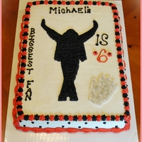 Michael Jackson Birthday Cake Buttercream Icing With MMF Glove & Silver Edible Sprinkles..