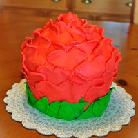 Rose Cake MMF Red Rose Cake