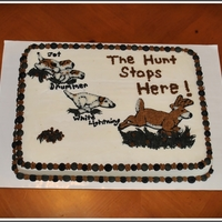 Hounds Chasing Deer Cake.. Buttercream Icing..