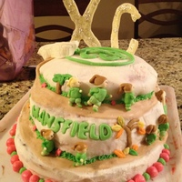 Cross Country Cake cake i made for my cross country banquet... it didn't exactly come out how i planned.