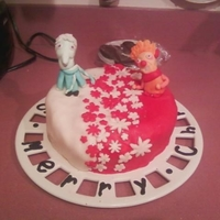 Snow Miser And Heat Miser Cake