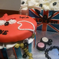 London Shoppingbag Cake
