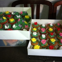 Spring Garden Cupcakes Made for a charity spring fayre :)