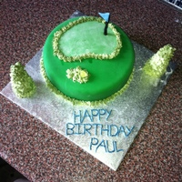 Birthday Golf Cake A lemon cake for a golf fanatic!