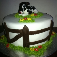 Moooooooooooooooo Cake Made for a friend who has a phobia of cows!!