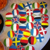 Eurovision Flag Cupcakes Made for a Eurovision party.... with the flags of participating Countries :)