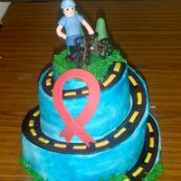 Winding Road Cake This is a cake I made for the leaving president of a local community organization for people living with HIV. She is also a bicycle...
