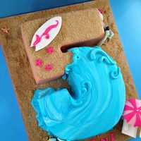 Beach Party This number cake was created for a Teen Beach Movie birthday party
