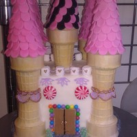 Candy Castle this is a topper for a candy land cake I have to do. the main part of the castle is a square dummy everything else is edible. TFL