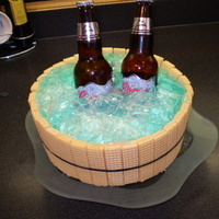 Beer Bucket Made this cake for a friend, she was totally blown away. The cake was lemon with a lemon curd filling. Icing was cream cheese and the...