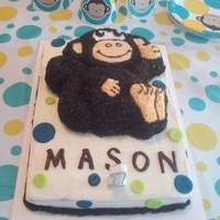 Monkey Cake I did this cake for my grandson's 1st birthday this year...he loves monkeys and this cake was a huge hit with him!