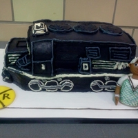 Train Cake This is a Norfolk-Southern Train Cake that I did for my brother-in-law for his birthday and he has worked for them for over 20yrs...he...