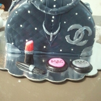 Chanel Purse Cake I did this cake for my oldest grand-daugher's mothers birthday...she loved her purse cake in her favorite color navy!
