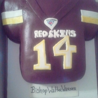 Redskins Jersey Cake I did this cake for my oldest brother's birthday...he loved his cake!