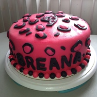 Leopard/ Cheetah Print Cake With Cheetah Print On The Inside Aswell!