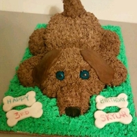 My Daughters 3Rd Birthday Dog Cake