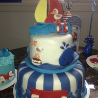 My Nephews 1St Birthday Nautical Themed Ocean Cake My nephews 1st birthday nautical themed ocean cake.