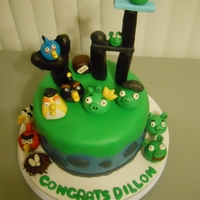 Angry Birds Cake!!! This is my first cake for a customer...my 4th cake in total.