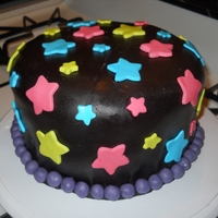 Neon Star Cake My 3rd cake I've made.