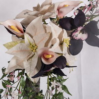 Poinsettia And Black Orchid Bouquet.   My sugar flower entry for Die Tortenshow 2012. Gold and best in class!