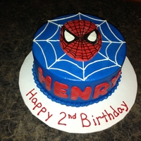 Round Spiderman Cake