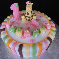 Giraffe Themed Cake
