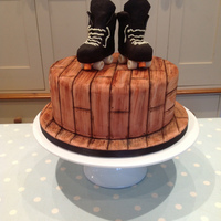 Roller Skate Birthday Cake Roller skate cake for a boy's roller skating party. Chocolate cake covered in sugarpaste with skates made from modelling chocolate. (...