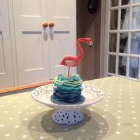 Mini Flamingo Cake For My Friend Chessies Birthday The Cake Is Chocolate With Chocolate Ganache Covered With Modelling Chocolate The Flam Mini flamingo cake for my friend Chessie's birthday. The cake is chocolate with chocolate ganache covered with modelling chocolate....