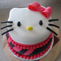 Hello Kitty Hello Kitty cake for a Hello Kitty/hot pink/zebra print party!