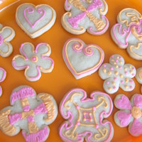 Pink And Orange Cookies Cookies, just for fun! =]